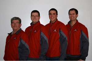 Team members Paul Delorey, D'arcy Delorey, Daniel Richards and Glenn Smith will be representing the NWT at the Dominion Curling Championships .