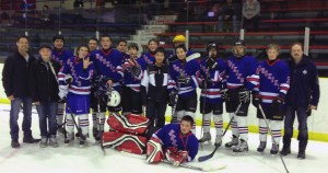 The Hay River Huskies, a bantam-level team, recently travelled to Peace River for a Tier A-level tournament. The team consists of, back row, left to right: Dean McMeekin (coach), Tanner Mandeville, Wade Moore, Myles Boyer, Nick Buth and Tristan Cross. Front, left to right: Killian Schofield, Jordon Schumann, Scott Belanger, Dawson McMeekin, Don Wilson, JJ Frise, Willy Frise, Corey Lafleur, Lochlan Munro and Dana Cross (coach). Goalie: Colton Charlton. Photo courtesy of Mirjam Cross