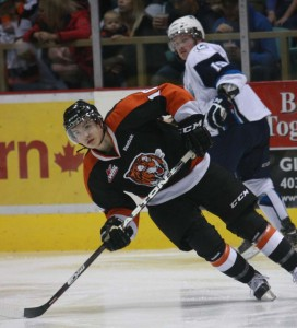 Gavin Broadhead and the Medicine Hat Tigers swept the Saskatoon Blades in the first round of the WHL Eastern Conference playoffs. -- NNSL file photo
