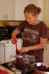 Franziska Ulbricht prepares food for the first Real Food Cafe lunch at the Hay River winter market in mid-October. -- NNSL file photo