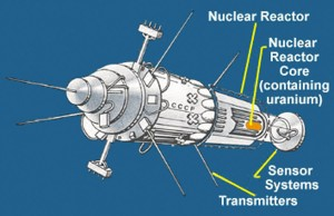 photo courtesy of the United States Department of Energy An artist's rendition of the Kosmos 954 satellite that crashed in the NWT on Jan. 24, 1978.
