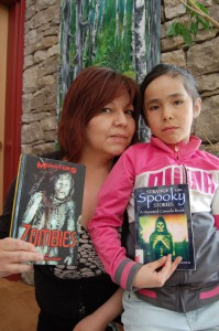 Angele Cano/NNSL photo Wendy Dumas, left, and daughter Richelle are preparing for Hay River's first zombie horde walk in the works for May.