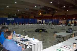 Sarah Ladik/NNSL photo Approximately 100 delegates attended the annual general meeting of the NWT Association of Communities held May 9-12 in Hay River.