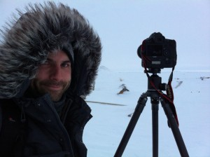 photo courtesy of Adam Hill Adam Hill braved the cold in Tuktoyaktuk last March for his signature stellar landscape photography work.