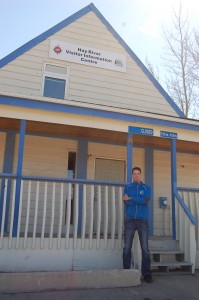 Sarah Ladik/NNSL photo Hay River's economic co-ordinator Jordan Stackhouse oversaw this season's opening of the Hay River Visitor Information Centre on May 15.