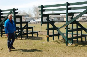 Sarah Ladik/NNSL photo Kim Tybring is in charge of ensuring the Town of Hay River's recreation facilities are all in good working order and safe for players and spectators alike.