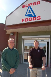 Co-owners Steve Anderson and John Hill, along with Tracy *** (not pictured) enjoy the extra services they can provide customers and the community as an independent grocer. -- Sarah Ladik/NNSL photo