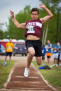 Photo courtesy of Shayla Maisonneuve Diamond Jenness' Joel Gordon's training efforts this year paid off when he won the gold in the long jump.