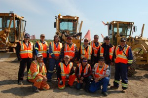 Sarah Ladik/NNSL photo Eleven airport maintenance workers were in Hay River last week to learn new skills at Merlyn Carter Airport. The participants in the course included, from left, front row, Richard Sanguez, Eddie Okheena, Justin Gon and Clarence Nasken; back row, Ben Wrigley, Clayton MacCauley, Harold Sanguez, Paul MacCauley, Darren Nasogaluak, instructor Ralph Sanguez, Hank Wolki and Greg Baptiste.