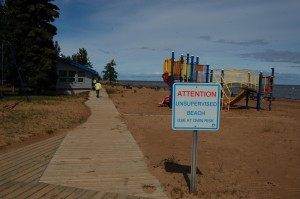 Sarah Ladik/NNSL photo The beach at the Hay River Territorial Park, along with the one at Fred Henne Territorial Park in Yellowknife, will be under review by the Alberta and Northwest Territories branch of the Lifesaving Society.