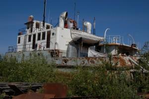 Sarah Ladik/NNSL photo The Radium Franklin may never again work on Great Slave Lake, but the vessel may have a future as a training project and, later, as a tourist attraction.