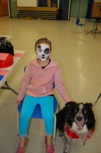 Sarah Ladik/NNSL photo Delayna Cross and Sparky have been regulars at the Dawg Days event in Hay River for years.
