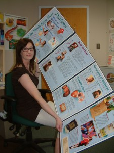 Debbie Sutton, a diabetes nurse educator in Hay River, holds a display used to teach people about the disease.  - NNSL file photo