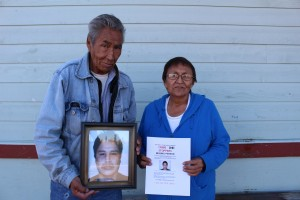 Sarah Ladik/NNSL photo John Smallgeese, left, and Jeanna Graham are still looking for closure on the disappearance of Kelvin Smallgeese – his son and her nephew – from Yellowknife three years ago.