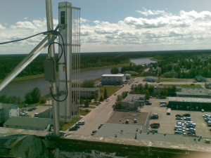 photo courtesy of Ice Wireless Ice Wireless has set up an antenna in Hay River in anticipation of rolling out its 3G network in the town sometime this fall.