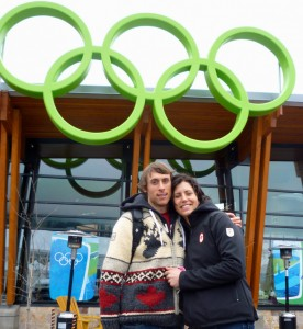 photo courtesy of Brendan Green Brendan Green, left, and partner Rosanna Crawford competed at the Vancouver Winter Olympics in 2010, and hope to give it another go in Sochi, Russia, in February.