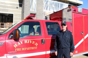 Sarah Ladik/NNSL photo Fire Chief Ross Potter is looking forward to moving his crew and equipment into the new fire hall.