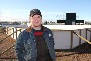 Paul Bickford/NNSL photo Keith Dohey, president of a new community service organization called the Pharus Group, stands in front of its first project – a temporary outdoor rink in the parking lot of the Pine Point Ball Diamond.
