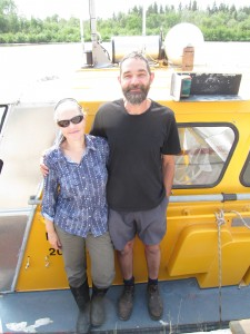 NNSL file photo Among the visitors to Hay River this past summer were Australians Ali Dedman and Rodger Grayson, who were on a world tour that began in 2007. They stopped in Hay River on their way to Tuktoyaktuk in a retired vessel they bought from the Canadian Coast Guard in Victoria, B.C.