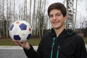 Paul Bickford/NNSL photo Daniel DaRosa, a 14-year-old student at Diamond Jenness Secondary School, is trying to organize a three-on-three soccer tournament.
