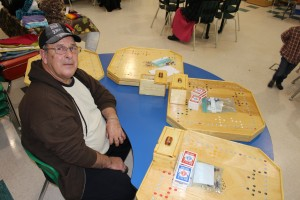 Sarah Ladik/NNSL photo Louis Michel has been crafting boards for 'Jokers and Marbles' for almost a year, and says it helps him keep busy now that he is retired.