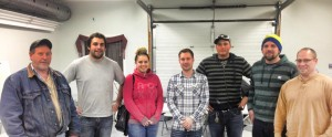 photo courtesy of Tanner Froelich The board of directors for the newly-formed Race Hay River Society are, from left, Andy Taylor, Devon King, Kelsey McGinley, vice president Derek Mundy, president Tanner Froehlich, Kurtis King, and secretary-treasurer Dean Hendrickson.