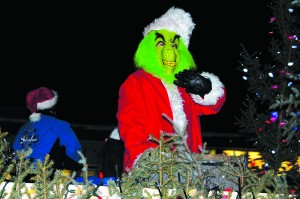 Although he was soon followed by Santa Clause, the Grinch also took part in the Santa Clause Parade through Hay River Nov. 29. Photo by Sarah Ladik NNSL