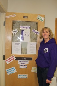 Principal Heather Pedjase is pleased with how the students are responding to the Purple Door program so far this year and is working towards involving more community services and agencies in the student services space. Photo by Sarah Ladik NNSL