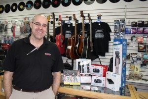 G.B. Superior Sound owner Craig Kovatch says he was happy to help get much of the equipment needed to run the Hay River Community Youth Centre's (HRCYC) new film club and hopes he can share his passion for film making with others. Photo by Sarah Ladik NNSL