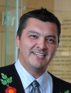Education, Culture and Employment Minister Jackson Lafferty 2013 Yellowknife Photo courtesy of ECE