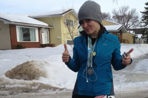 Amanda Matchett/submitted photo  Although conditions won't be the same, Amanda Matchett is training to run in the sweltering heat of the Saharan Desert next year in honour of her father, David Matchett, who died in Hay River in 2006.