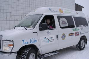 NNSL file photo Elise Marie takes the driver's seat of the handi-van in 2012. The vehicle may be available on a more limited basis.