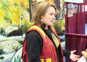 Lisa Smith promotes summer jobs for students in the forestry sector of the Department of Environment and Natural Resources (ENR) at the career fair Feb. 27. Photo by Sarah Ladik NNSL
