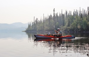 Ivan Gaetz takes canoe trips on great Bear Lake nearly every year. He says having grown up in the North and always coming back to visit has kept him in touch with the context and understanding necessary to propoerly edit and supplement Bern Will Brown's latest book about the Sahtu Dene who live in the area. Photo courtesy of Ivan Gaetz