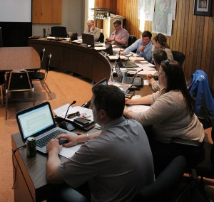 Hay River's town council voted to keep the rate corridor residents pay for municipal taxes at 90 per cent of the general mill rate April 28, despite pleas from the group's rate-payer's association about unfair taxation as a result of fewer services. Photo by Sarah Ladik NNSL