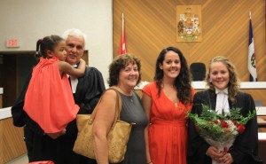 photo courtesy of Keelan Simpson Keelan takes the bar at a ceremony in Hay River. In attendance are Inaaya Sulemana, left, Rocky Simpson, Bette Lyons, Chelsea Simpson and Keelen.