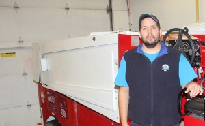 Jamie Pynten Facility maintainer at arena Zamboni driver Oct. 19, 2014 Hay River Photo by Paul Bickford Northern News Services Ltd.