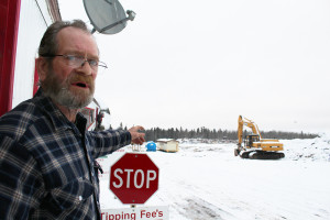 Sarah Ladik/NNSL photo Dump worker David Jourdenais says he was told to expect the installation of a new system in the near future at the Hay River landfill.
