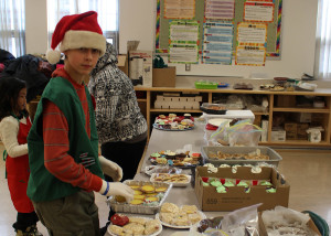 Jack Coombs volunteers at the tea room at this year's Festival of Trees, held at Princess Alexandra School. Sarah Ladik NNSL