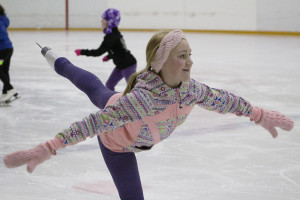 Abbigail King glides through the crowded ice at practice Jan. 9.  Sarah Ladik NNSL