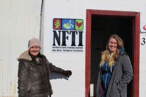 Sarah Ladik/NNSL photo Jackie Milne, left, and Kim Rapati show off the shop space NFTI rented to build untis while waiting for the lease on the land outside of town to come through.