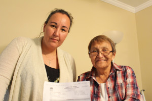 Kathleen, left, and Jeanna Graham found a piece of paper stuffed into the door at Jeanna's house in the Old Village on June 2, saying the water tank had tested positive for e. coli bacteria.
