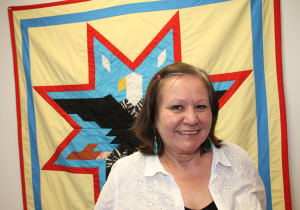 Yvonne Hopkins Urban Partnership co-ordinator Soaring Eagle Friendship Centre Aug. 12, 2015 Hay River Photo by Paul Bickford Northern News Services Ltd.