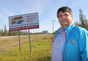 Joe Melanson President of the Hay River Chamber of Commerce Area of signs leading into town to be redone with standardized signs