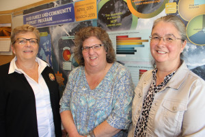 The guest speakers at a Sept. 2 workshop in Hay River on Fetal Alcohol Spectrum Disorders (FASD) were, left to right, Jane Arychuk, president of Aurora College; Lori Twissell, family liaison with the FASD project at Stanton Territorial Hospital in Yellowknife; and Wanda Beland of the Northwest Regional FASD Society, Mackenzie Network, in High Level, Alta.
