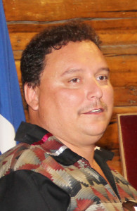 2309kfn!_new Garry Bailey President of Northwest Territory Metis Nation Mayor of Hamlet of Fort Resolution 2015 Fort Smith Photo by Paul Bickford Northern News Services Ltd.