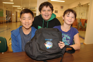 Three students from Princess Alexandra School back from trip to Disneyland Left to right: Harvey Havioyak-Kolaohok Albert Rymer Simara Tambour-Wilson Oct. 2, 2015 Hay River Photo by Paul Bickford Northern News Services Ltd.