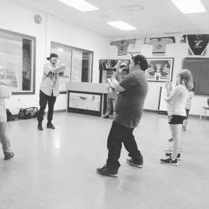photo courtesy of Trish Broedner A hip hop dance class is being offered in town by Joshua Ramirez, left, this fall.