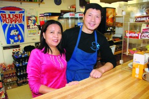 Dragon and Michelle Huang own and operate Sub on the Hub, which occupies the concession at the Don Stewart Recreation Centre.