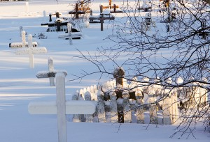 Riverside Cemetery in Hay River. Photo by Paul Bickford Northern News Services Ltd.
